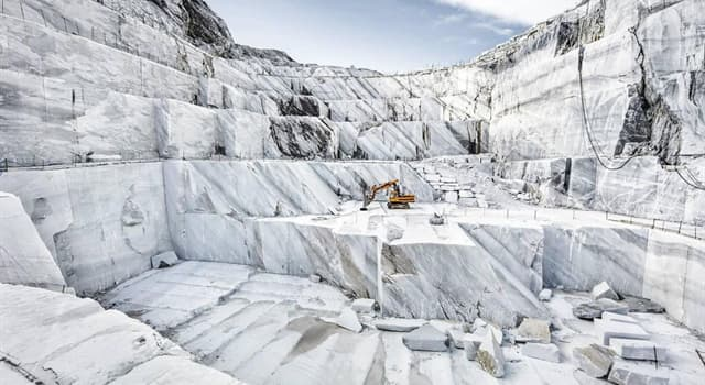Geography Trivia Question: In which country is Carrara marble quarried?
