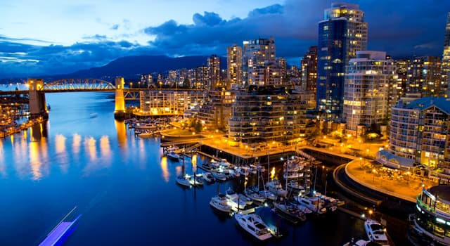 Geography Trivia Question: In which country is the city of Vancouver located?