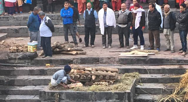 Culture Trivia Question: On which river in Nepal are sacred cremations of a deceased person held?