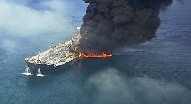 History Trivia Question: In 2002, the sinking of which tanker caused a major environmental disaster off the coast of Spain?