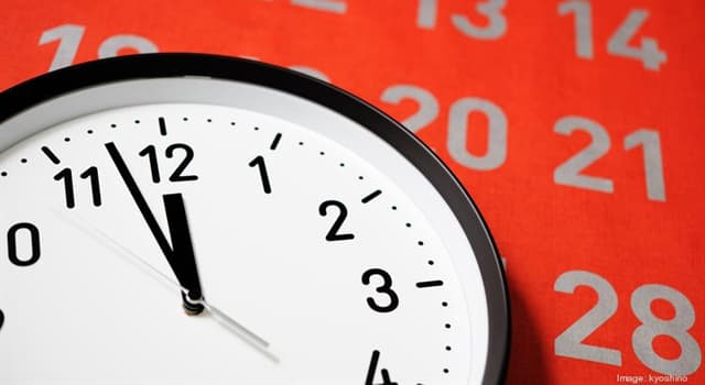 Society Trivia Question: Time is usually reckoned by using what as a starting point?