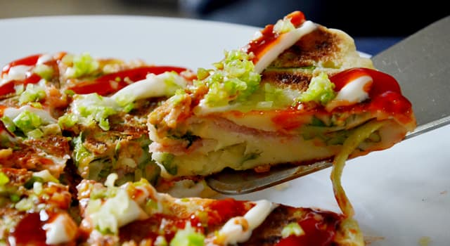 Culture Trivia Question: What is the name of the Japanese version of a savory pancake?