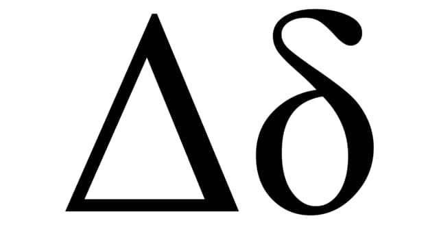 Science Trivia Question: What is the use of Greek letter ''delta'' in both science and mathematics?