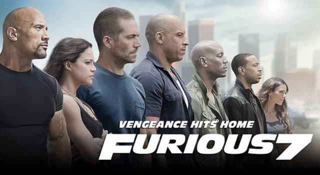 "Movies & TV Trivia Question: What year did the movie ""Furious 7"" premiere?"