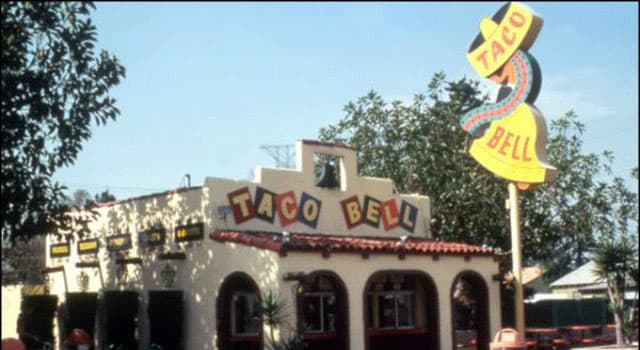 Society Trivia Question: When did the fast food franchise 'Taco Bell' first open in Mexico?