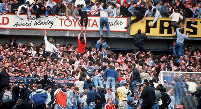 History Trivia Question: When did the 'Hillsborough disaster' occur?