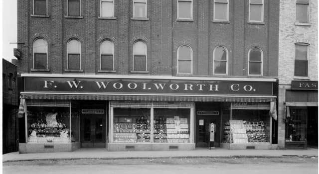 History Trivia Question: When was the first Woolworth store opened?