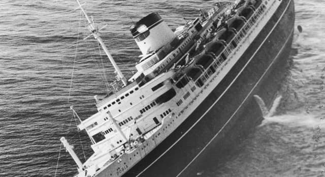 History Trivia Question: Where did the Steamship Andrea Doria sink?