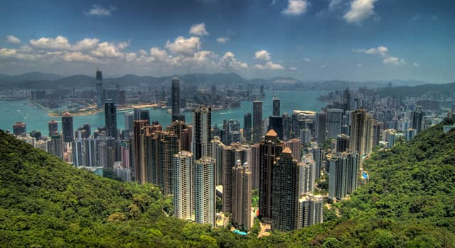 Geography Trivia Question: Where is Victoria Peak located?