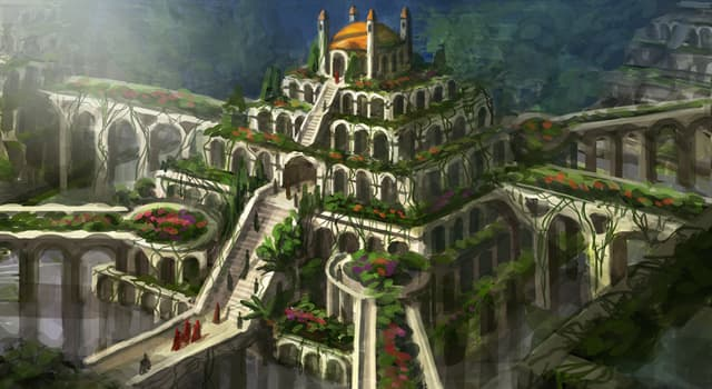 History Trivia Question: Where were the Hanging Gardens, one of the Seven Wonders of the Ancient World, located?