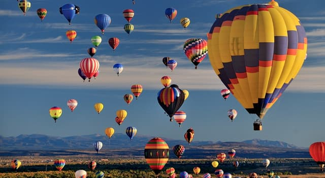 Culture Trivia Question: Which balloon is filled with hot air?
