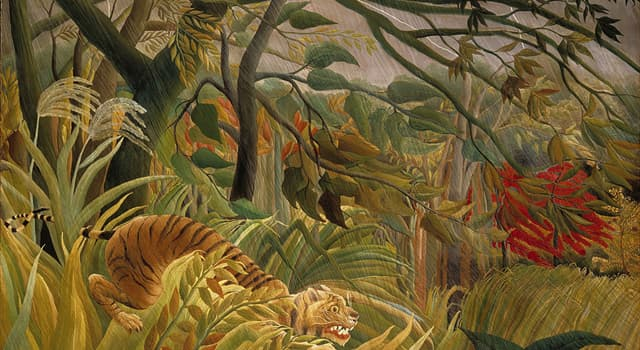 "Culture Trivia Question: Which French artist painted ""Tiger in a Tropical Storm""?"