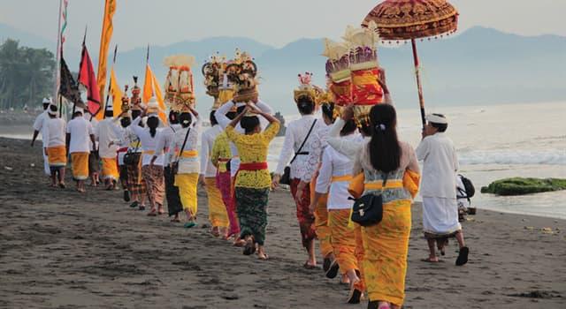 Как религиозное население Бали... | Вопросы Quiz Club | QuizzClub