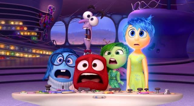 Películas y TV Pregunta Trivia: ¿Cuáles son las 5 emociones personificadas en la película Inside Out (Intensa-Mente) del 2015?