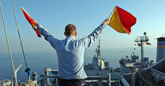 Society Trivia Question: What is the name given to the process of signaling with hand-held flags?