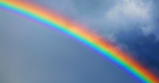 Nature Trivia Question: Where is the sun always positioned when you look at a rainbow?