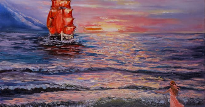 """Culture Trivia Question: Who is the author of the story """"Scarlet Sails""""?"""