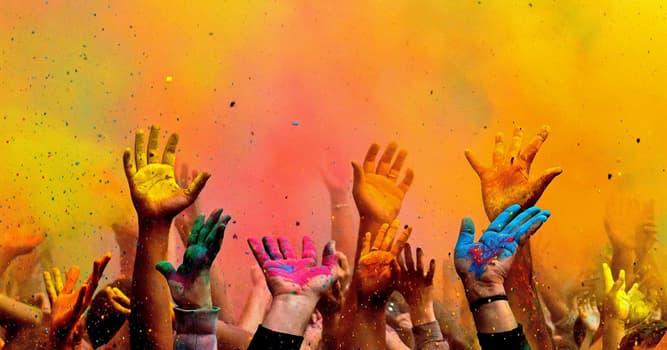"""Kultur Wissensfrage: Aus welcher Religion stammt das Frühlingsfest Holi, das auch als """"Fest der Farben"""" bekannt ist?"""