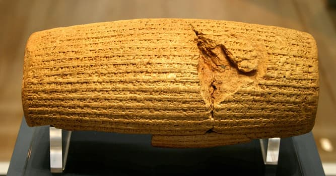 History Trivia Question: What is written on the Cyrus Cylinder?