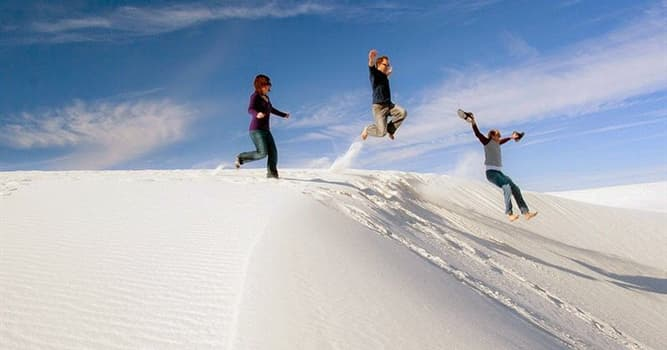 Geography Trivia Question: Where is the White Sands desert located?