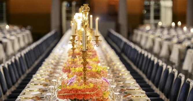 Culture Trivia Question: Which of these was a permanent dessert at the Nobel banquet till 2000?