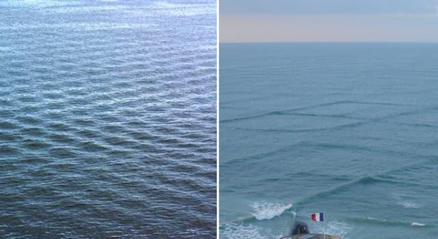 Geografía Pregunta Trivia: ¿Cómo se denomina en navegación cuando el mar se presenta en el estado que muestran las fotos?