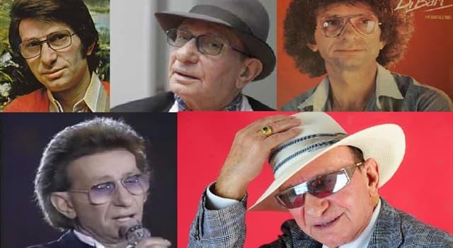Cultura Pregunta Trivia: ¿Cuál es el nombre real del cantautor italiano Nicola Di Bari?