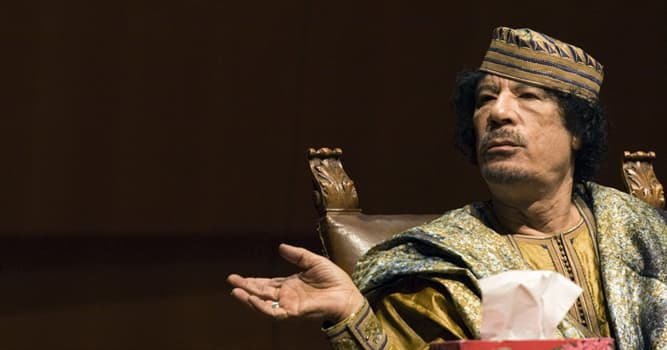 Sociedad Pregunta Trivia: ¿De qué país era el revolucionario Muamar el Gadafi?