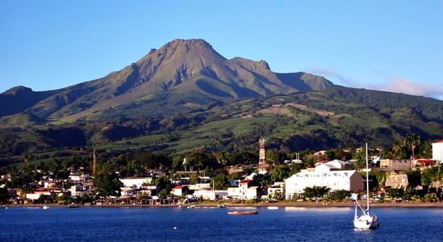 Geografía Pregunta Trivia: ¿En qué isla de las Antillas Menores está ubicado el Monte Pelée?