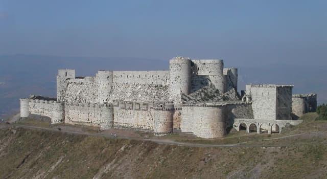 Geografía Pregunta Trivia: ¿En qué país está el castillo Crac de los Caballeros?