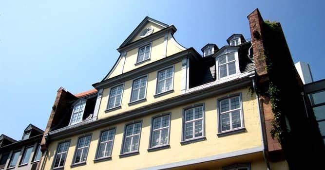 Kultur Wissensfrage: In welcher Stadt befindet sich das Geburtshaus von Johann Wolfgang von Goethe?
