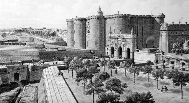 Geografía Pregunta Trivia: ¿Cómo se llamaba la famosa fortaleza de París usada como prisión estatal por los reyes de Francia?
