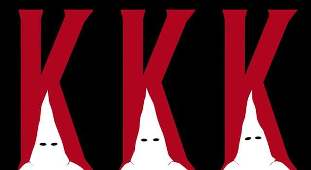 Historia Pregunta Trivia: ¿Qué es el Ku Klux Klan?