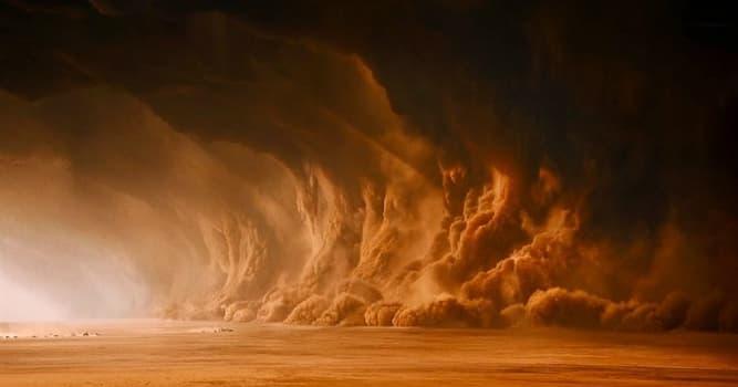 Wissenschaft Wissensfrage: Welcher Planet hat die stärksten Sandstürme?
