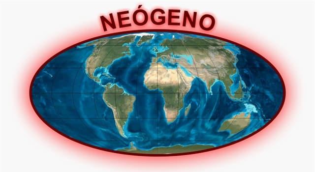 Geografía Pregunta Trivia: ¿A qué era en la división de la escala temporal geológica pertenece el período neógeno?