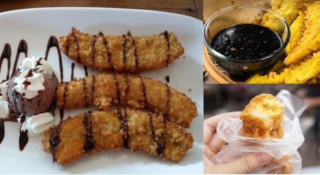 Cultura Pregunta Trivia: ¿Cómo es el nombre del snack de banana frita que se consume en Indonesia?