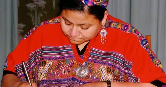 Sociedad Pregunta Trivia: ¿En qué año recibió el Premio Nóbel de la Paz Rigoberta Menchú?