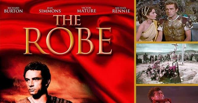 """Películas y TV Pregunta Trivia: ¿En qué estudios se filmó la primer película en Cinemascope""""The Robe"""" (El manto sagrado 1953)?"""