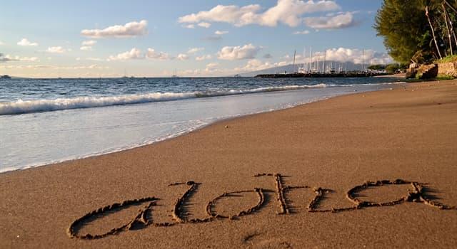 """Cultura Pregunta Trivia: ¿De qué lenguaje proviene el saludo """"aloha""""?"""