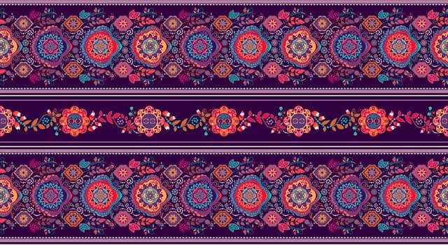 Cultura Pregunta Trivia: ¿Cuál de estos es un diseño decorativo que se repite?
