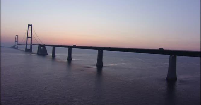 Geografía Pregunta Trivia: ¿Cuántos kilómetros de longitud tiene el Puente Gran Cinturón o Great Belt?