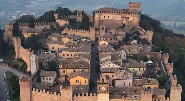 Geografía Pregunta Trivia: ¿Dónde está ubicado el Castillo de Gradara?