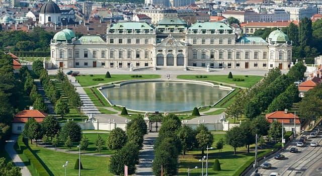 Geografía Pregunta Trivia: ¿En qué ciudad de Austria se localiza el Palacio Belvedere?