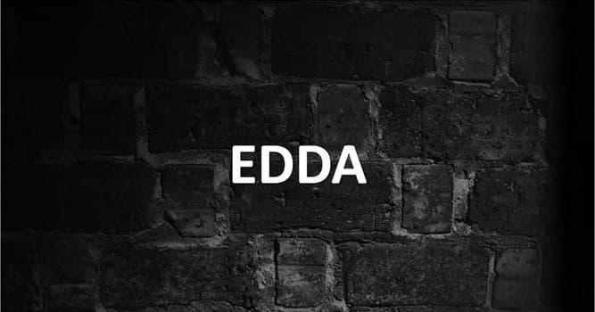 Cultura Pregunta Trivia: ¿Qué son las Eddas?